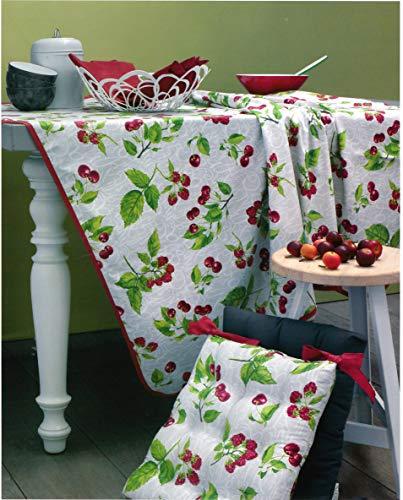 TAG HOUSE tafelkleed geplastificeerd rond cm 150 BOSSI 3655 peertjes v.11 bordeaux - zonder servetten