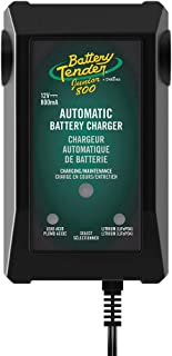 Battery Tender Junior Charger and Maintainer: 12 Volt, 800mA Battery Charger for Lead Acid and Lithium Batteries - Switchable Battery Charger for Powersports - 022-0199-DL-WH