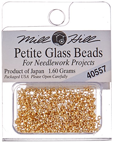 Mill Hill Petite Glass Seed Beads, 1.60gm, Gold
