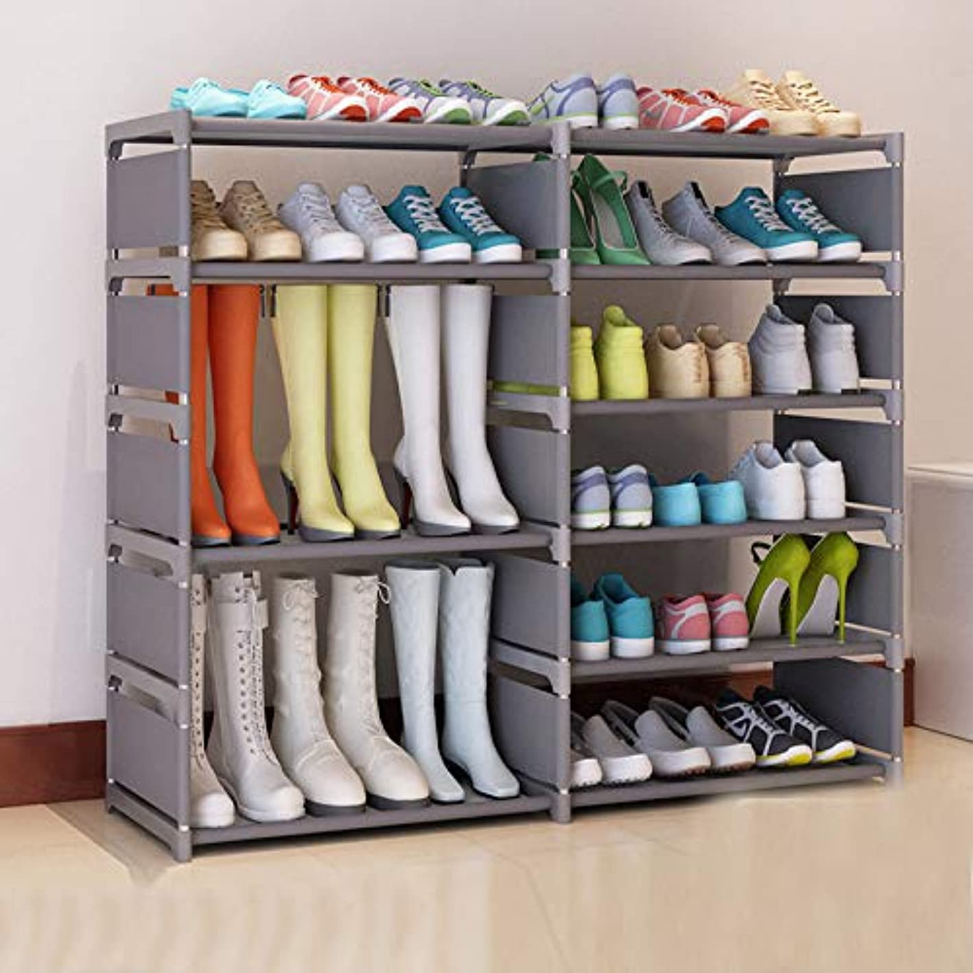 Multi-Layer Simple Non-Woven Fabric Craft Shoes Boots Storage Rack Assembly Stand for Home Shoes Organizer Saving Space AC041