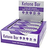 Ketone Bar (Scatola da 12 barrette) | Snack Bar chetogenico | Contiene Ketone Boosting Pure C8 MCT | Paleo & Keto Friendly | Senza glutine | Sapore di caramello al cioccolato | Ketosource®