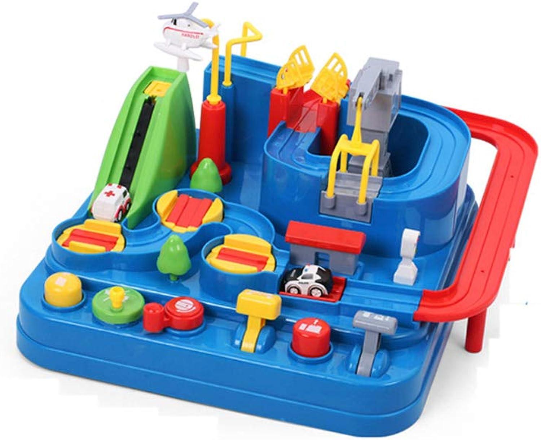 QTDS Kinder Eltern-Kind Spielzeug Puzzle Jungen und Mädchen Eisenbahnwagen interaktive Tischspiele Auto Abenteuer Spiele doppelt auf dem Brettspiel Shaoguan Spiel 4-6 Jahre alt B07NTQ8WRQ Berühmter Laden  | Vorzugspreis