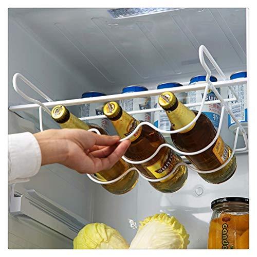Aiglen Estante para vino, refrigerador, estante para cocina, lata, cerveza, vino, soporte para botellas, organizador de estante, almacenamiento de cocina, estante organizador para refrigerador, estant