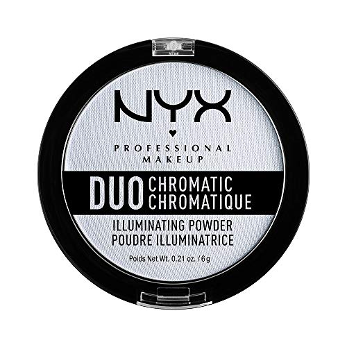 NYX PROFESSIONAL MAKEUP Duo Chromatic Illuminating Powder, Twilight Tint (Makeup That Goes With A White Dress)