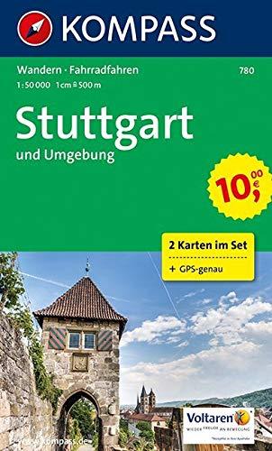 KOMPASS Wanderkarte Stuttgart und Umgebung: Wanderkarten-Set mit Radrouten. GPS-genau. 1:50000 (KOMPASS-Wanderkarten, Band 780)