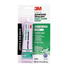 Cures fast – One-part adhesive sealant requires no mixing, typically cures in as little as 24 hours so you can get back on the water faster Seals above and below waterline – Ideal for joints, rub-rails, access plates and other areas shielded from the...