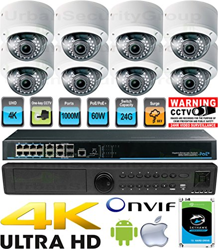 Find Discount USG Business Grade H.265 Ultra 4K UHD 8MP 8 Camera Security System : Ultra 4K 16 Chann...