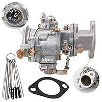 KIPA キャブレター ジープ Fヘッド 4シリンダーエンジン Willys CJ3b M38A1 CJ5 F134# 17701.02 923808 ガスケット&カーボンダートジェットクリーナーツールキット付き 丈夫