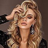 DOLA Parrucche Sintetiche Riccio Taglio Asimmetrico Parrucca Lungo Biondo Capelli Sintetici 23 Pollice per Donna Migliore qualità Biondo