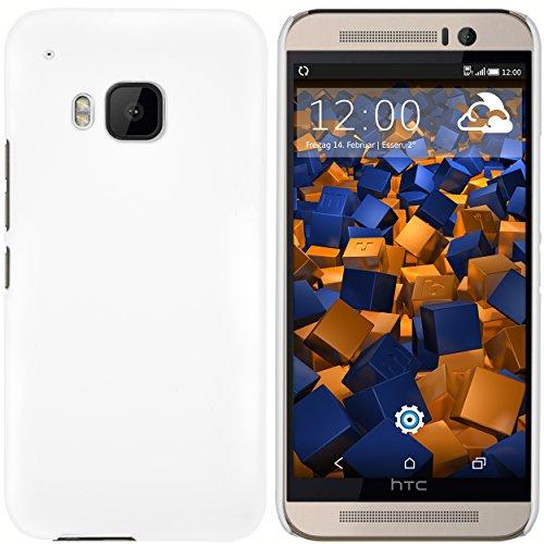 mumbi Hülle kompatibel mit HTC One M9 Handy Hard Case Handyhülle, weiss
