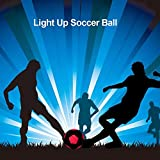 niyin204 Light Up Football Size 5 Soccer Rubber Waterproof Glow In The Dark Football With Bright LED Light...