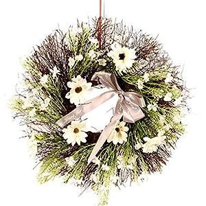 Silk Flower Arrangements LINNSZ 16'' Cosmos Bipinnata Cav. Flower Artificial Wreath Garland for Wedding Home Dec