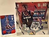 2019-20 Panini MOSAIC Basketball Card Factory Sealed MEGA Box - Exclusive REACTIVE BLUE PRIZMs - 80 Cards per Box - Find Zion Williamson and Ja Morant Silver Prizm Rookie Cards! - (Plus a Custom Ja Morant Novelty Card!)