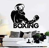 sxh28185171 Real Man Vinyl Wandaufkleber Fight Club Boxing Fighter Sport Wandaufkleber...
