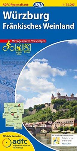 ADFC-Regionalkarte Würzburg Fränkisches Weinland mit Tagestouren-Vorschlägen, 1:75.000, reiß- und wetterfest, GPS-Tracks Download (ADFC-Regionalkarte 1:75000)