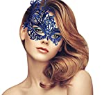 duoduodesign Exquisite Lace Masquerade Mask (Blue/Sexy/Soft Version/Small Eyes)