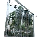 LXLA Paño impermeable de PVC, lona transparente Cubierta de muebles de patio a prueba de lluvia resistente a la lona - 350 g/m² (Size : 1.2m x 3m)