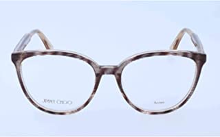 Rx Eyeglasses Frames JC 139 LXA 53-17-140 Striped Glitter Brown Italy