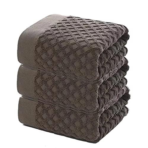 jinrun Toallas baño Verifique la Toalla de baño de algodón Largo y Suave Absorbente y sin restricciones de 3 Piezas Calidad de 3 Piezas Sábanas de baño 27 × 55 Pulgadas Bath Sheet