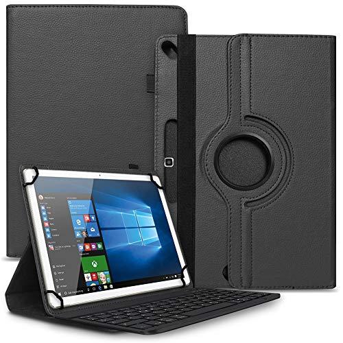 Tablet Hülle kompatibel für Blackview Tab 8 Tasche Schutzhülle Bluetooth Hülle Universal Keyboard Cover Standfunktion 360° Drehbar, Farben:Schwarz