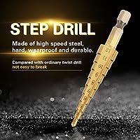 マルチホールステップアップビットステップドリルビット、ステップドリルビットセットスチールステップドリルハイススチールドリルビットステップドリル、切削用(3-12mm)