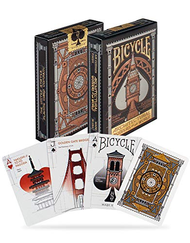 Bicycle Cartes à Jouer Architectural Wonders of The World Playing Cards