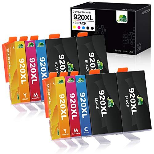 JARBO Ersetzt für HP 920XL 920 Druckerpatronen (4 Schwarz, 2 Blau, 2 Rot, 2 Gelb) mit hoher Reichweite Kompatibel für HP Officejet 6500 6500A 6000 7000 7500 7500A