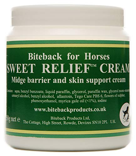 Biteback Products 'Sweet Relief' ™ Barrier Creme für juckende Pferde 250g