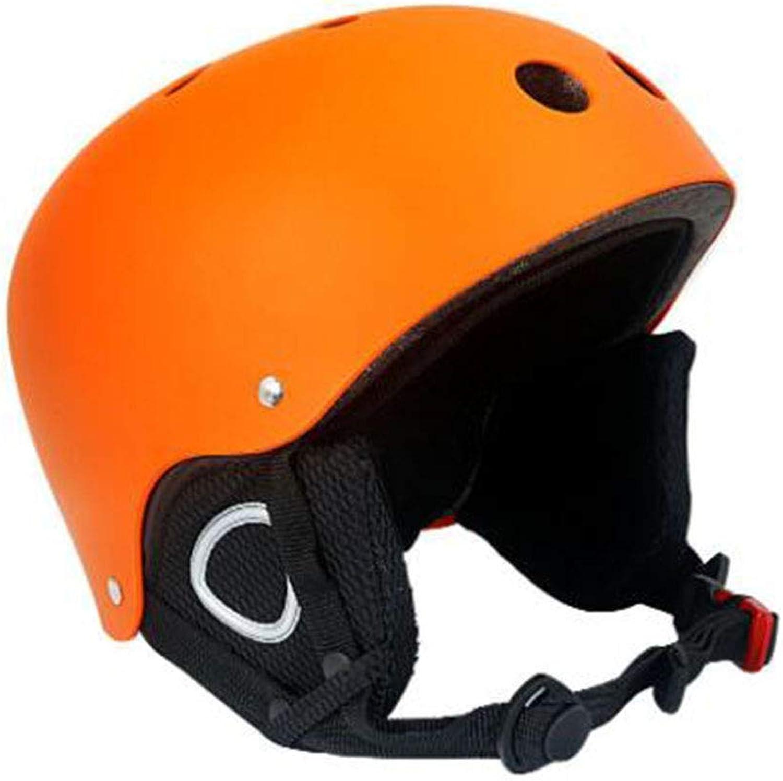Ice and Snow Sports Predection Helmet, Ultra Light, Unisex, ABS+EPS, S M,orange,S