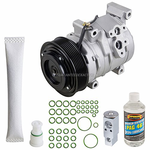 AC Compressor & A/C Kit For Scion tC 2005 2006 2007 2008 2009 2010 - Includes Drier, Expansion Valve, PAG Oil & O-Rings - BuyAutoParts 60-81289RK NEW