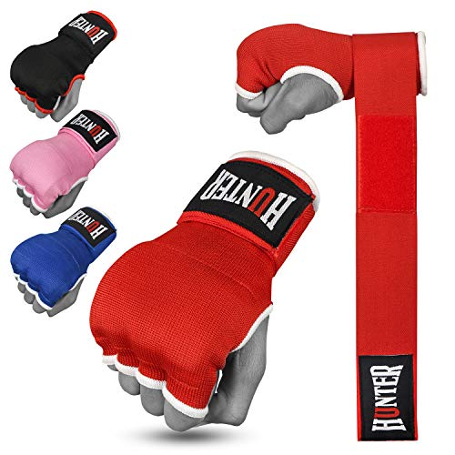HUNTER Gel Padded Inner Gloves with Hand Wraps for Boxing