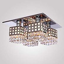 Unimall Lámpara de Techo Ideal Lámpara Techo Salón, Moderna Vidrio Lámpara Colgante Metal Lámpara de Araña No Incluye Bombilla