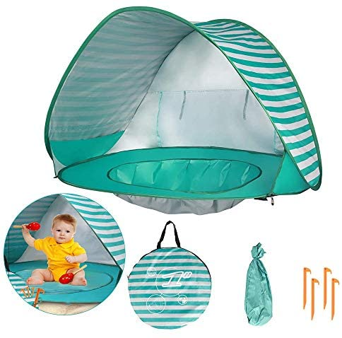 Baby Beach Tent with Pool UPF 50 Beach Sun Shelter Outdoor Tent for Aged 0 3 Baby and Kids Parks product image
