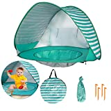 Baby Beach Tent with Pool, UPF 50+ Beach Sun Shelter Outdoor Tent