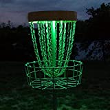 GlowCity Set of 2 LED Lights for Disc Golf Basket, Multi Colored, Remote Controlled, Waterproof, Includes Batteries and Adhesive Fastener to Attach (Basket Not Included)