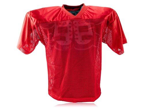 Full Force Erwachsene Trainingstrikot Einfaches American Football, Rot, 3XL/4XL