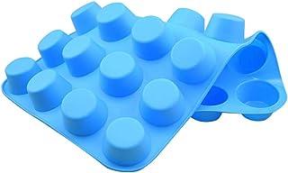 Bearbelly - Moldes para Hornear Pasteles de Silicona con 20 Orificios, no se pegan,