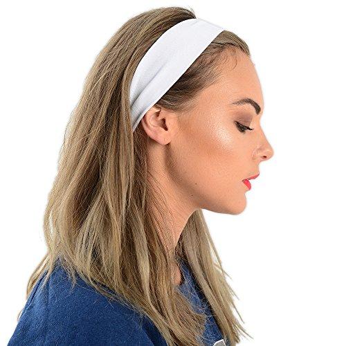 Kopfband / Schweißband, Einheitsgröße, elastisch, verschiedene Farben, Weiß, Einheitsgröße