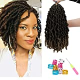 KOODER 10 Inch 3 Packs Pre-twisted Spring Twist Braids Synthetic Crochet Hair Ombre Colors Short Curly Braids Pretwisted Passion Twists Bomb Twist Bob Pre-looped Synthetic Hair Extensions (T27#)