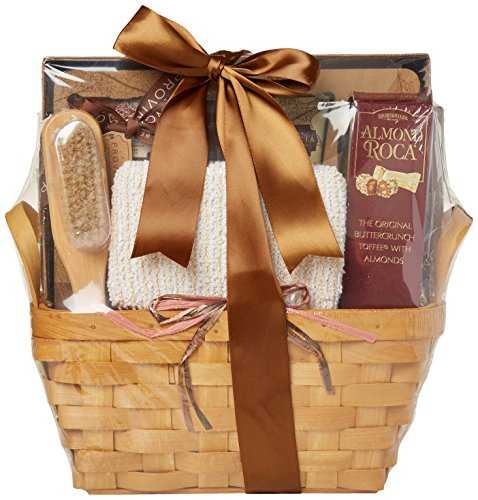 Gift Basket Village Tuscan Hills Spa Collection - Deluxe Spa Gift Basket For Women with Body Lotion, Scrub, Wash, Bubble Bath and Sweet Treats, 7 Pounds