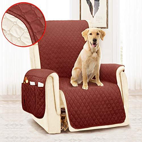You's Auto Universal-Bezug für Sessel, verstellbar, für 1 Sitzer, gesteppt, wasserdicht, mit Tasche 180 x 53 cm (Kaffee)