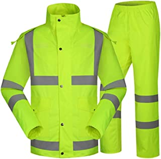 BGROESTWB Snow Rainwear Mens High Visibility Safety Bomber Jacket Reflective Stripes For Outdoor Multifunction Outdoor Cyc...