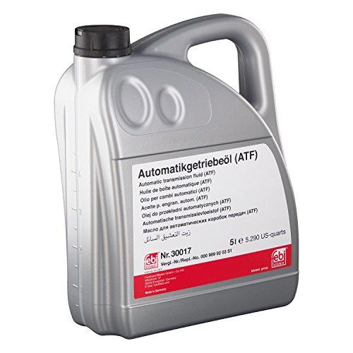 febi bilstein 30017 Automatikgetriebeöl (ATF) in automatischen Getrieben, Wandlern und Hydrolenkungen (rot) 5 Liter