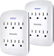 PHILIPS Outlet Surge Protector - Llave de Pared, 6