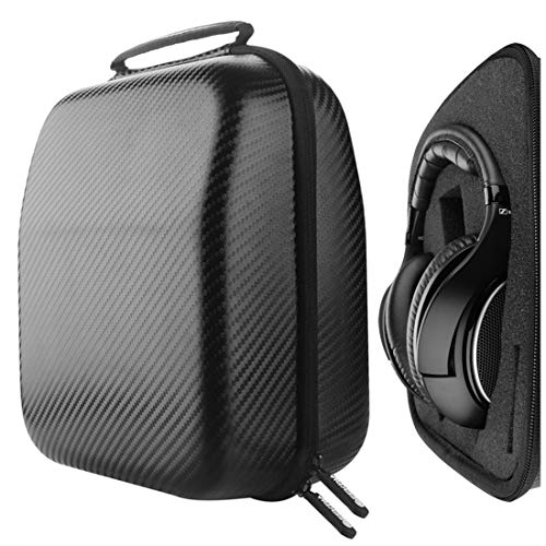 Geekria Headphone Case Compatible with Sennheiser HD650, HD600, HD598, HD558, HD518, AKG K550, Sony Z7 and More/Hard Shell Large Carrying Case with Foam Interior/Gaming Headset Bag