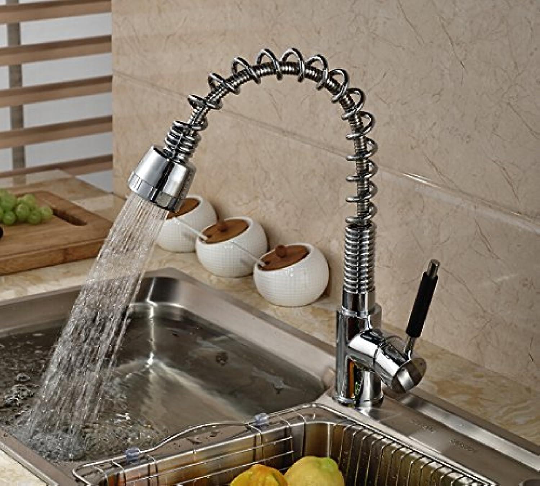 Maifeini Modernbrass Kitchen Faucet Dual R Swivel Spout Vanity Sink Tap Deck Mounted