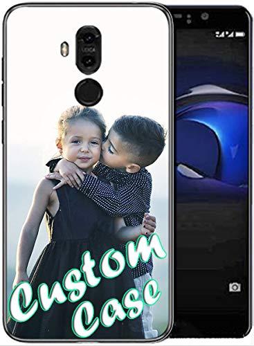 Funda personalizada para teléfono Huawei Mate 9 Funda de vidrio TPU DIY Patrón personalizado foto foto foto cubierta con protector de pantalla [1 paquete] (TemperGlass)
