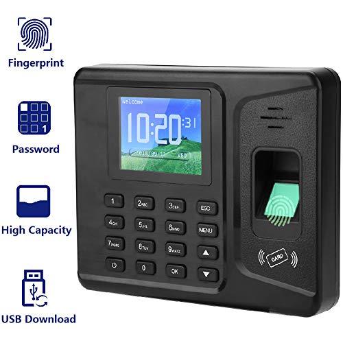 Digitale vingerafdruk-biometrische ondersteuningsmachine, 2,8-inch TFT-LCD-scherm vingerafdruk-toegangscontrole-apparaat tijdinstelling voor uitgangen van kantoor, fabriek, hotel.