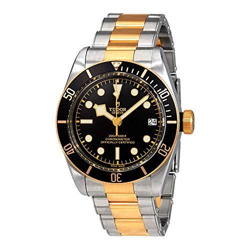 para Hombre Tudor Patrimonio Negro Bahía Oro 79733N 41mm