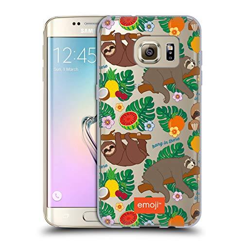 Head Case Designs Oficial Emoji® Tropical Pereza Carcasa de Gel de Silicona Compatible con Samsung Galaxy S7 Edge